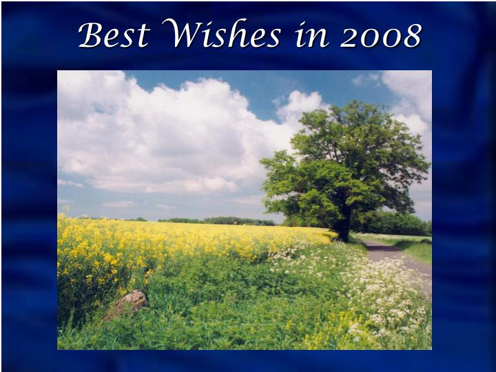 Best Wishes in 2008