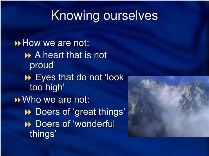 How we are not: