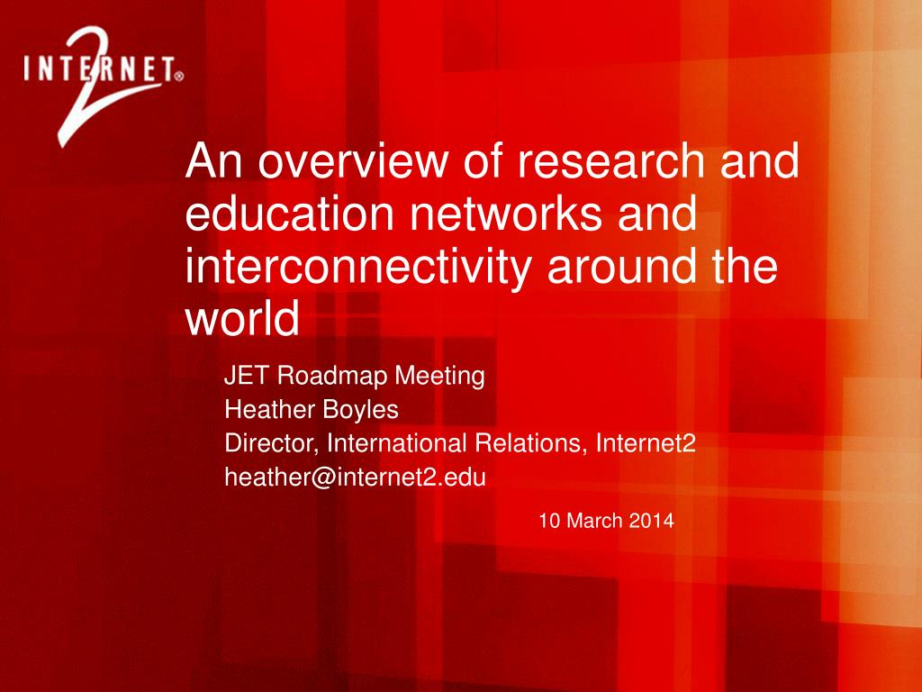 An overview of research and education networks and interconnectivity around the world