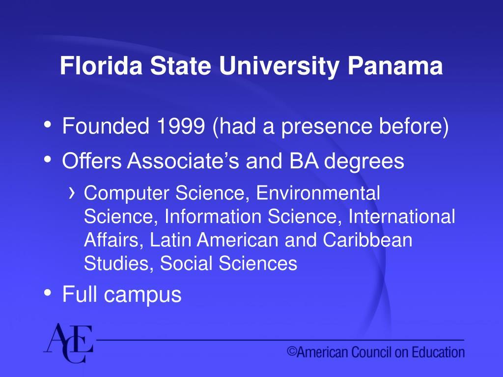 Florida State University Panama
