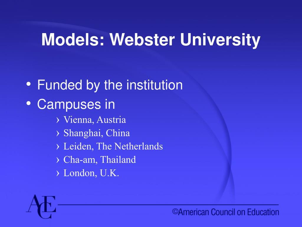 Models: Webster University