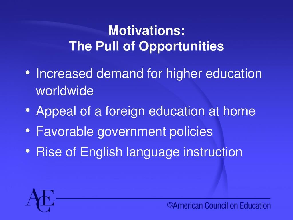 Motivations: