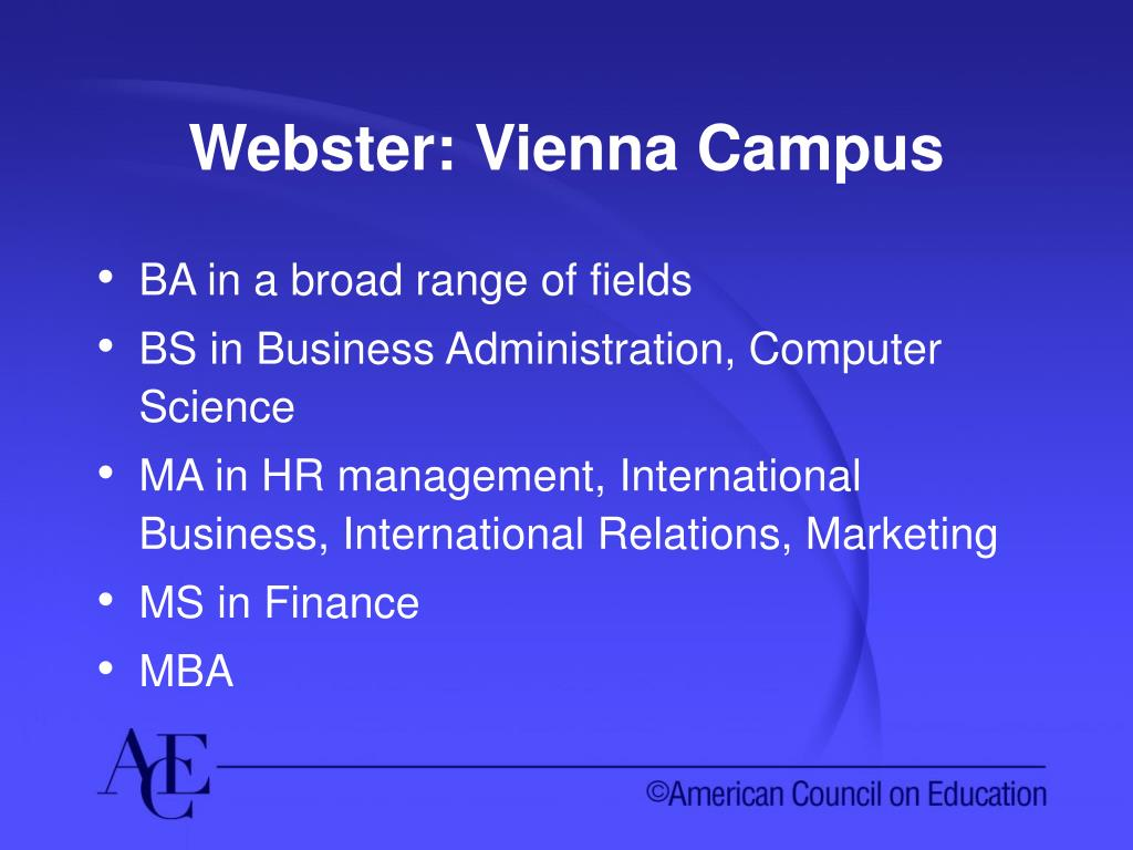 Webster: Vienna Campus