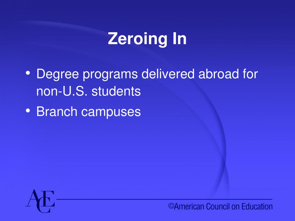 Zeroing In