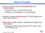 shrew principles