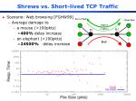 shrews vs short lived tcp traffic