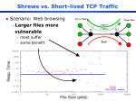 shrews vs short lived tcp traffic17