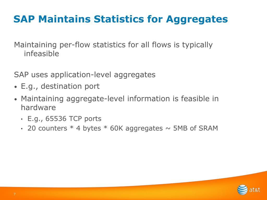 SAP Maintains Statistics for Aggregates
