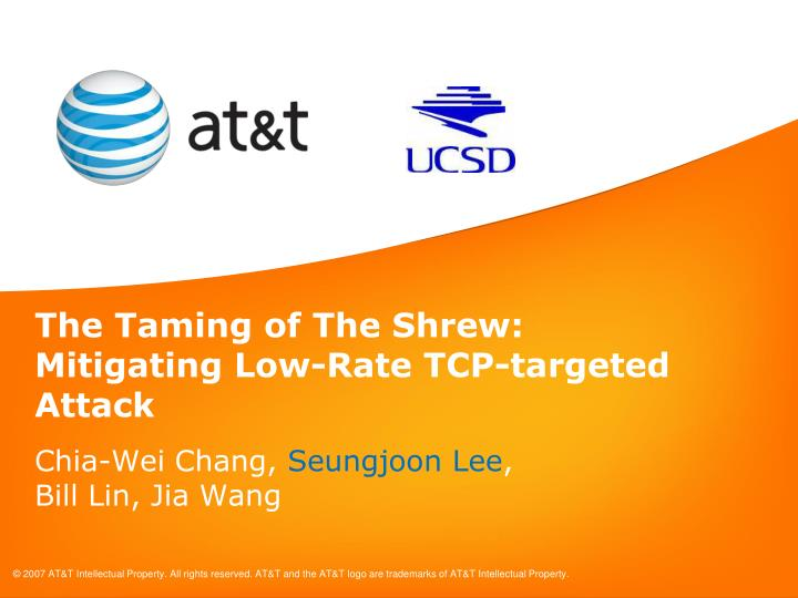 The taming of the shrew mitigating low rate tcp targeted attack