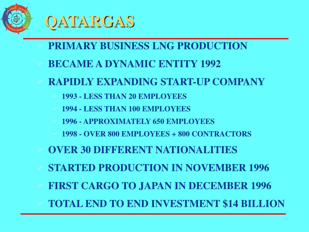 PRIMARY BUSINESS LNG PRODUCTION