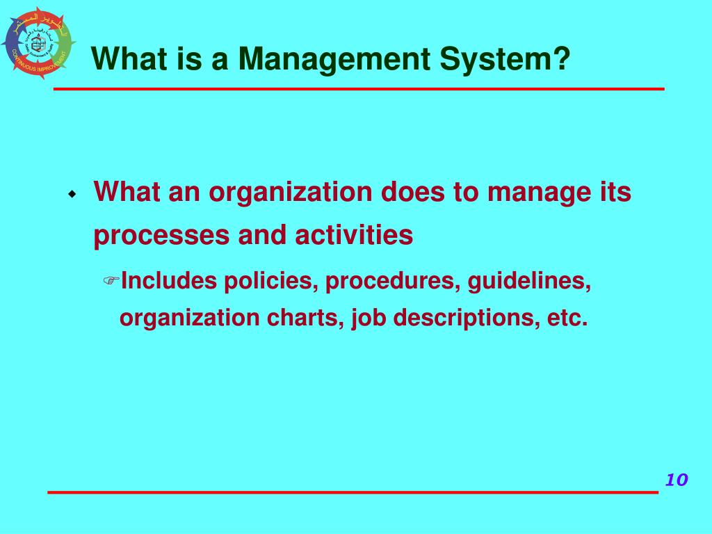 What is a Management System?
