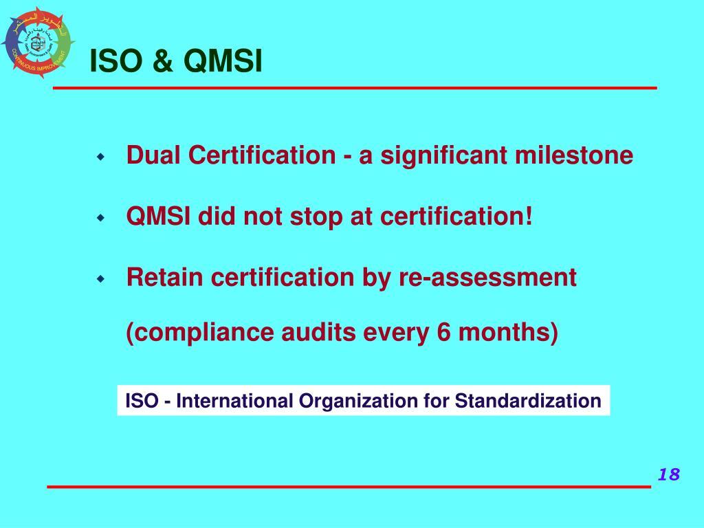 ISO & QMSI