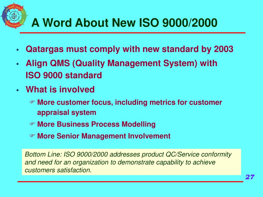 A Word About New ISO 9000/2000