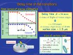 delay time of the transitions