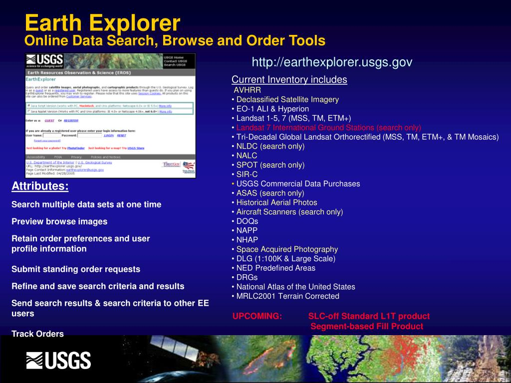 PPT - USGS EROS Data Access and Availability January 11