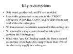 key assumptions
