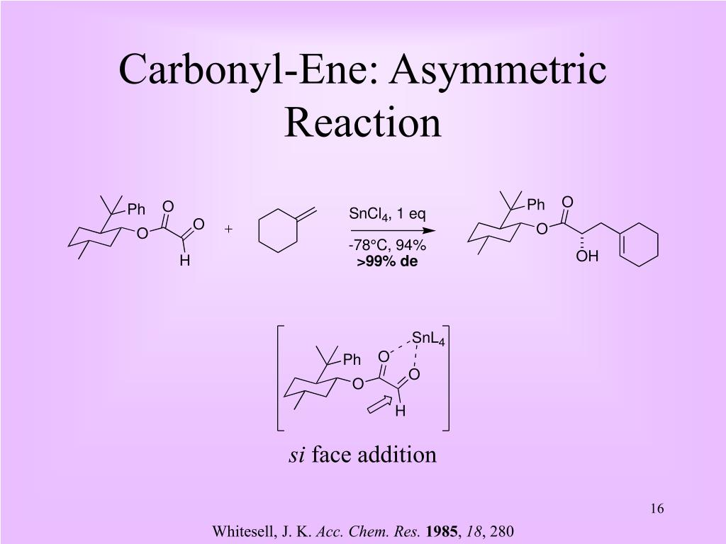 PPT - The Hetero-Ene Reaction: Development and Synthetic Utility