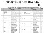 the curricular reform p 4 c iii incorporating p4c curriculum into specific areas of study isced1 2