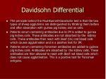 davidsohn differential