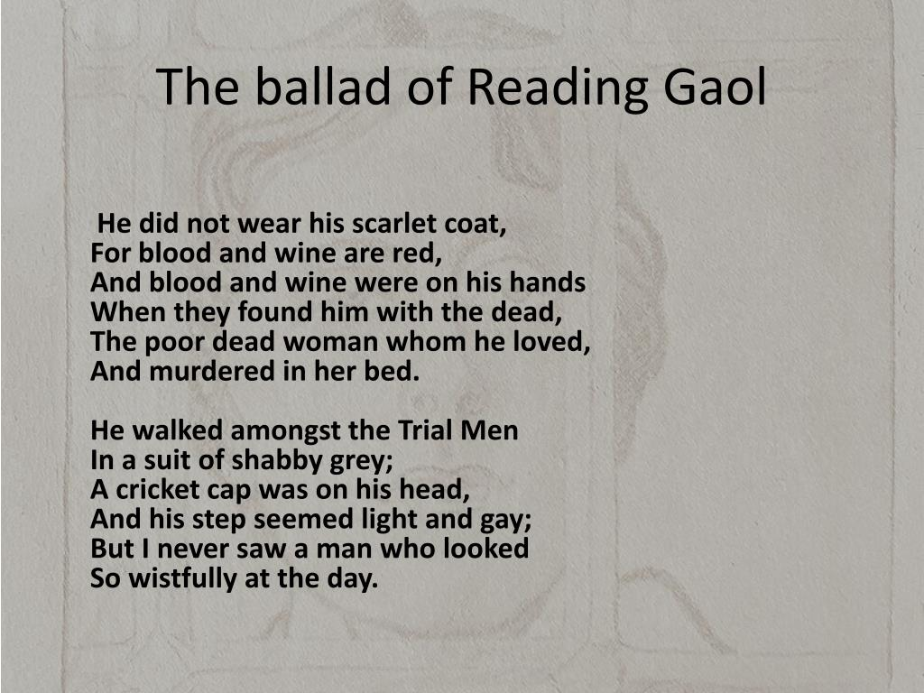 The Ballad Of Reading Gaol [with Biographical Introduction]