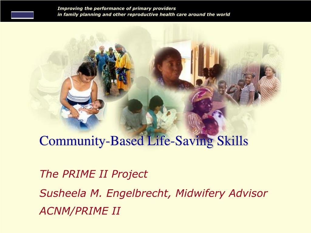 Community-Based Life-Saving Skills