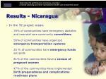 results nicaragua