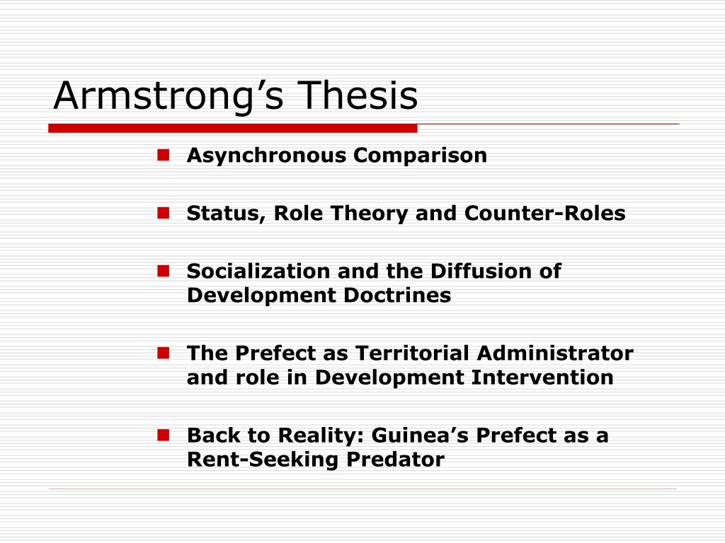 Armstrong's Thesis