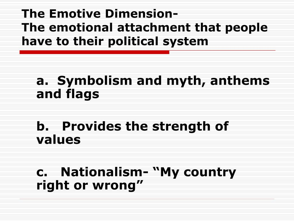 The Emotive Dimension-