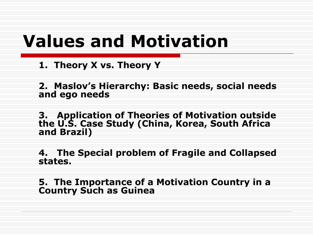 Values and Motivation