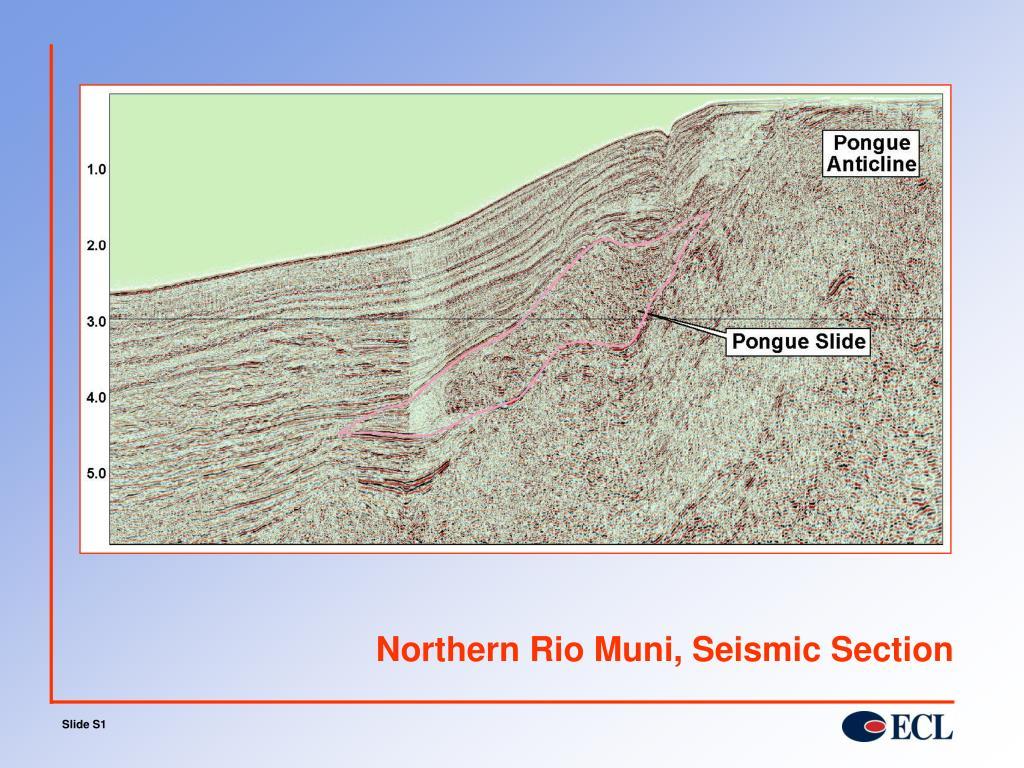 Northern Rio Muni, Seismic Section