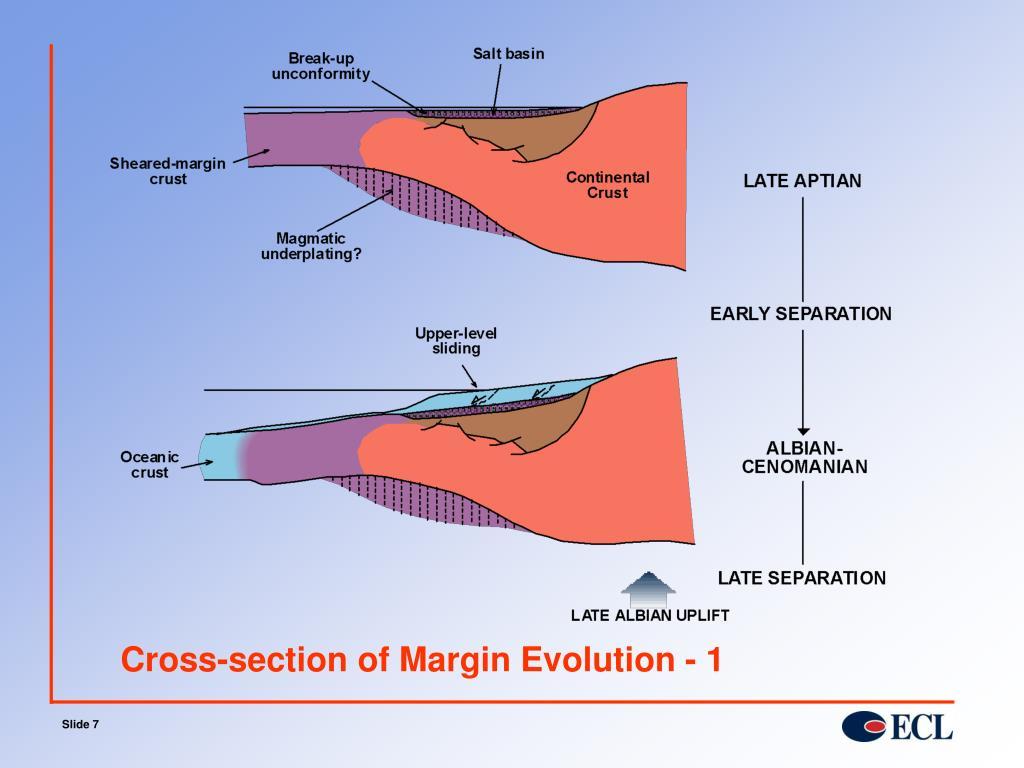 Cross-section of Margin Evolution - 1