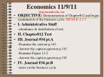 economics 11 9 11 http mrmilewski com