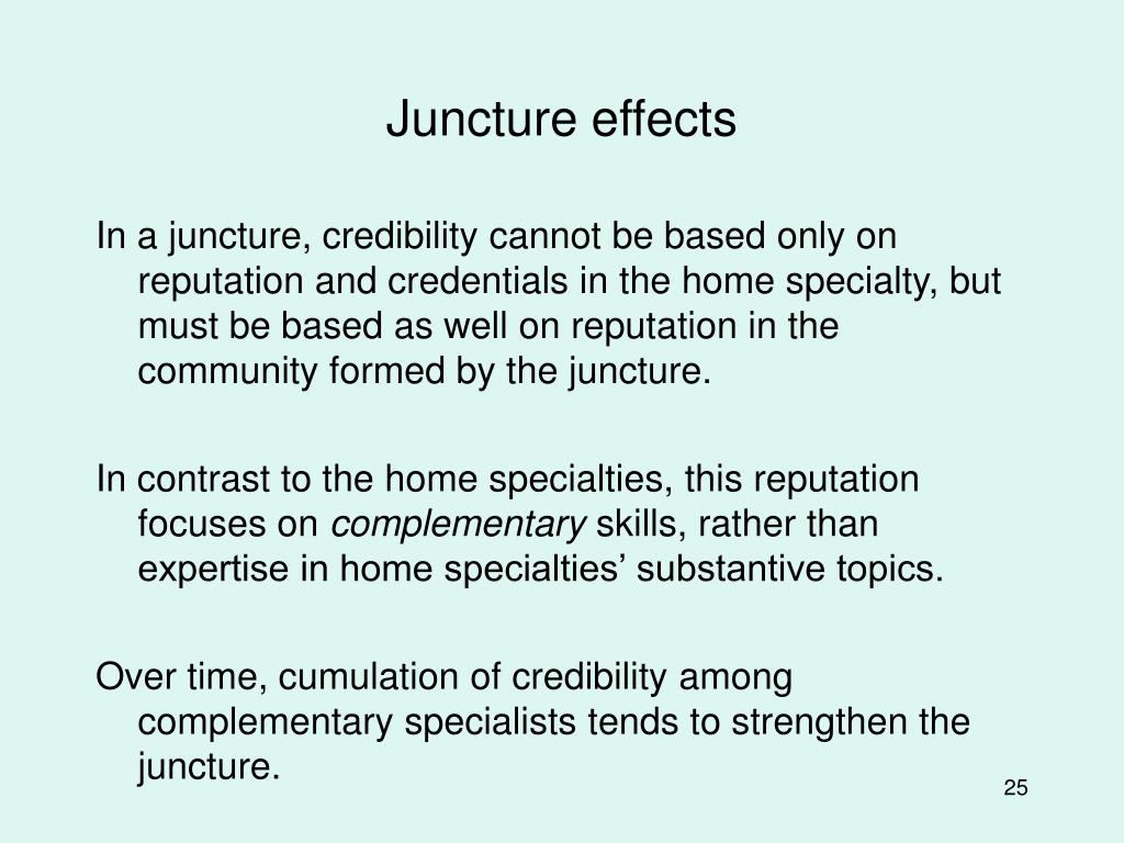 Juncture effects