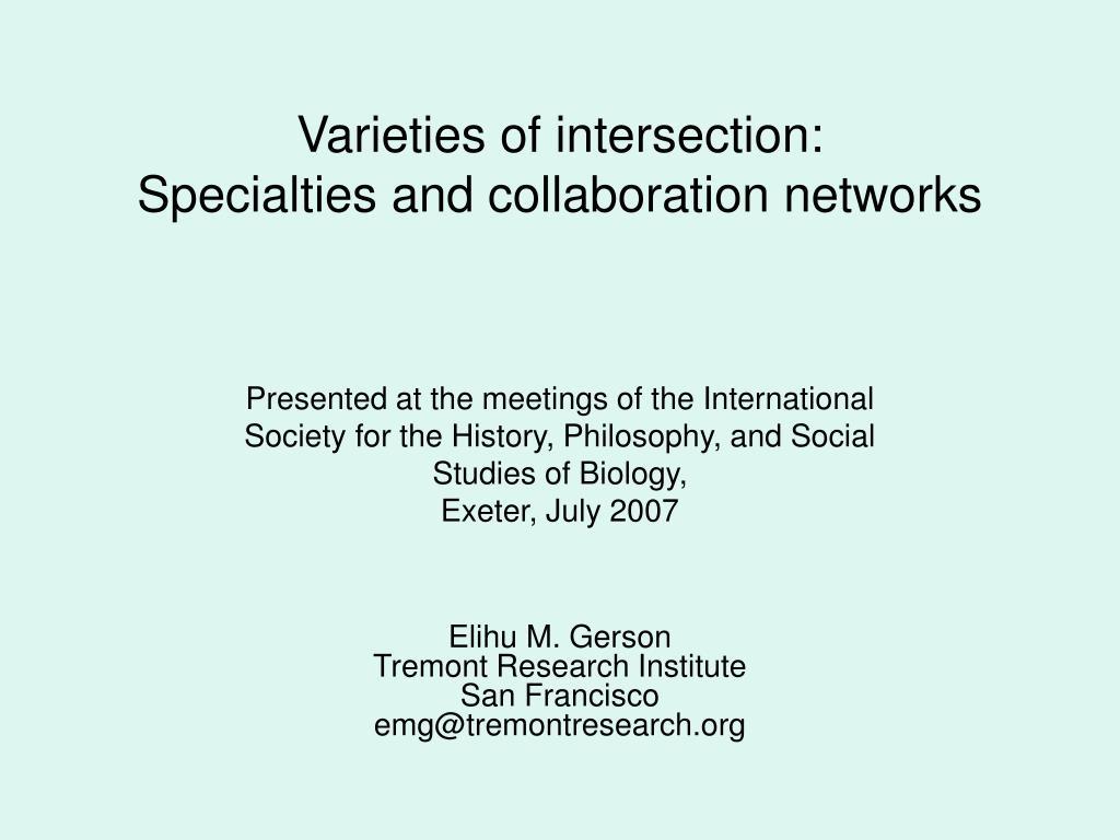 Varieties of intersection: