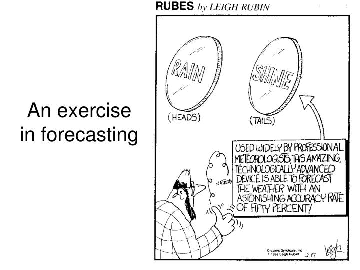 an exercise in forecasting n.