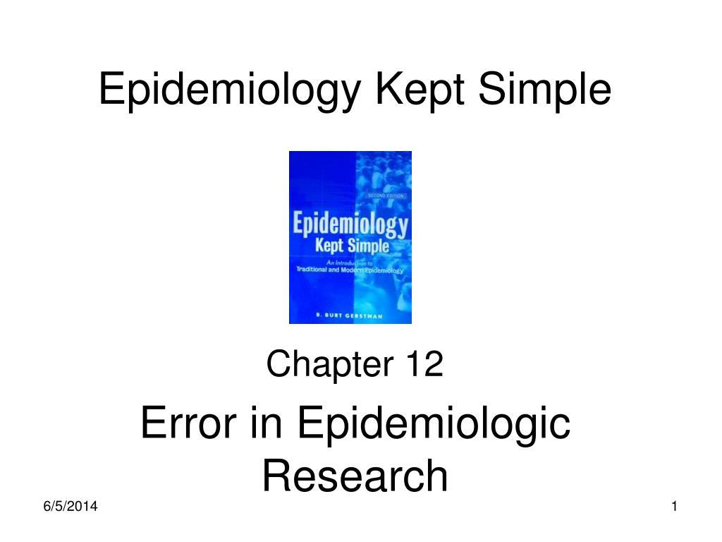 epidemiology kept simple n.