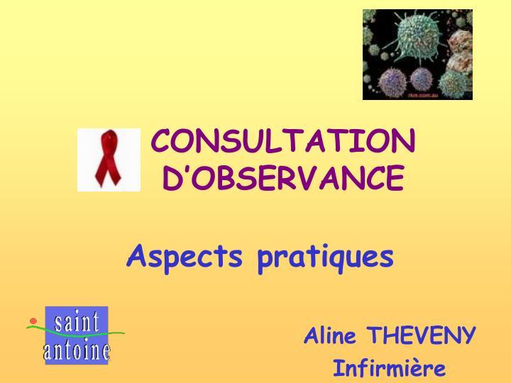 consultation d observance n.