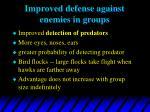 improved defense against enemies in groups