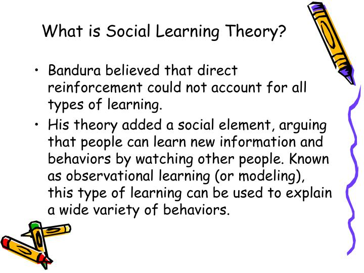 how prosocial behavior can be explained using social learning theory Prosocial behavior is a type of voluntary behavior designed to help others learn more about this important topic in social can be described as prosocial include.