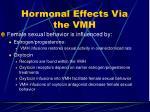 hormonal effects via the vmh