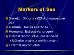 markers of sex
