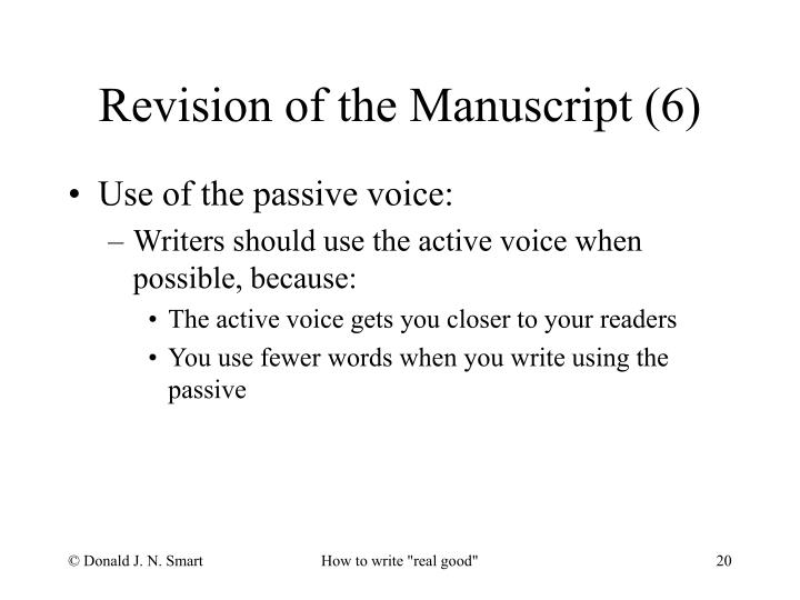 Revision of the Manuscript (6)
