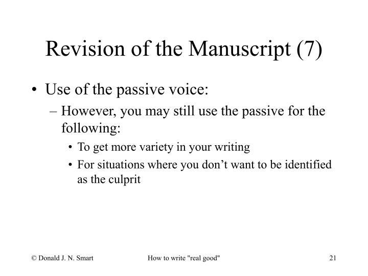 Revision of the Manuscript (7)