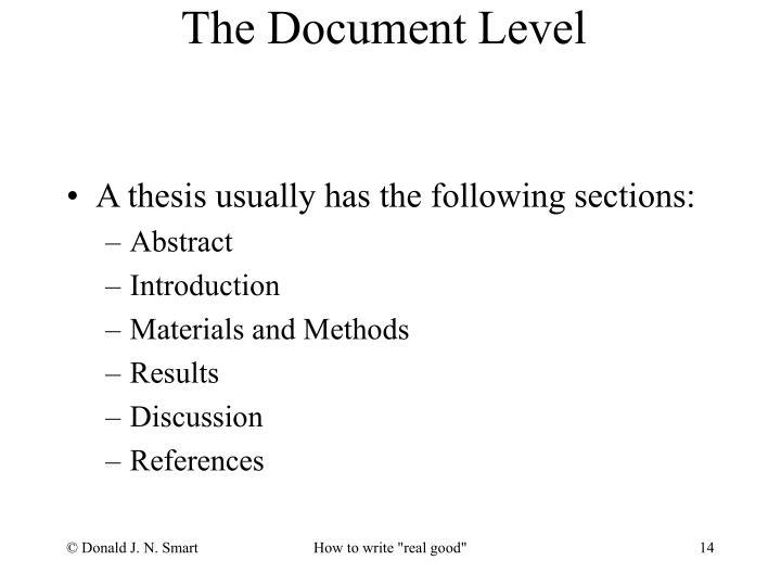 The Document Level