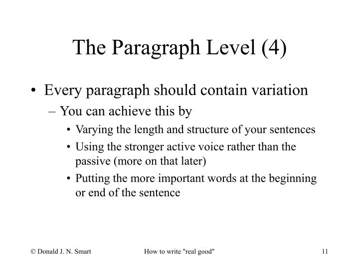Every paragraph should contain variation