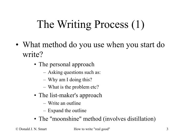 The writing process 1