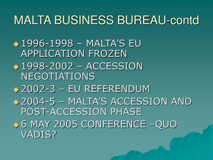Malta business bureau contd