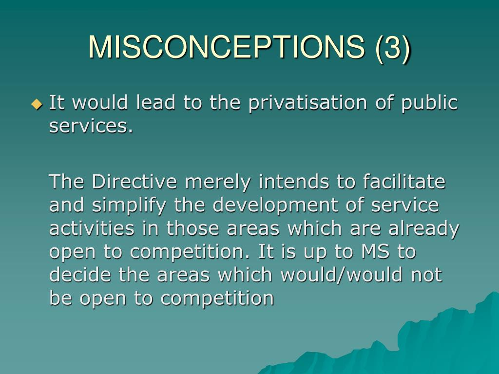MISCONCEPTIONS (3)