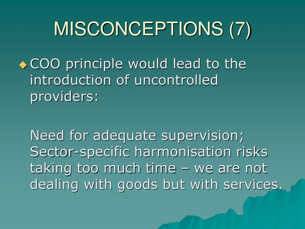 MISCONCEPTIONS (7)