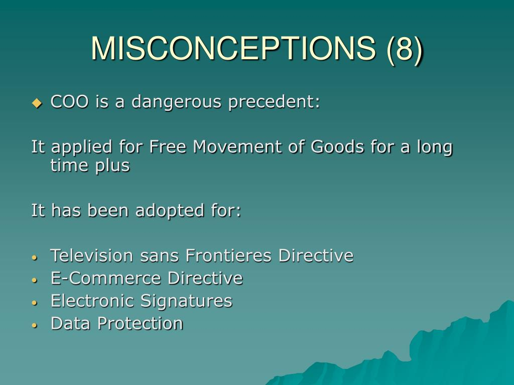 MISCONCEPTIONS (8)